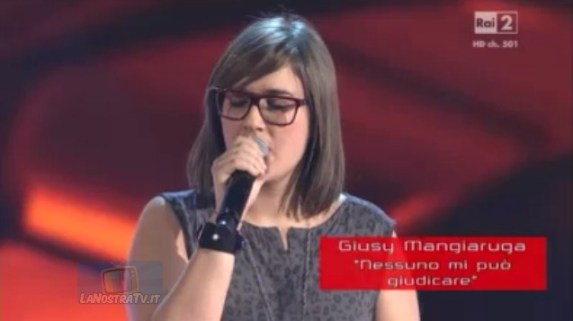 Foto di Giusy Mangiaruga The Voice of Italy