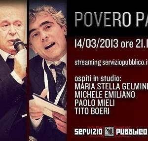 Gli ospiti di stasera 14 marzo di Michele Santoro a Servizio Pubblico