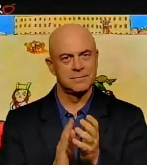Maurizio Crozza nella copertina satirica del 23 aprile