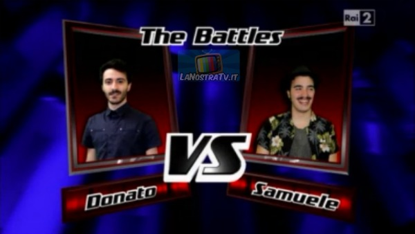Foto di Donato vs Samuele The Voice of Italy