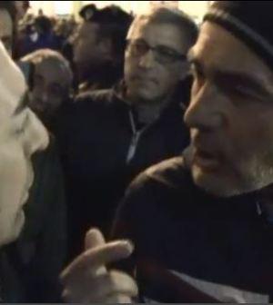 Massimo Giletti in piazza