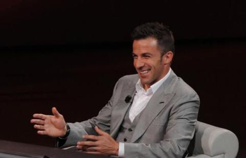 Del Piero in tv a SkySport: ''Spero di emozionare''