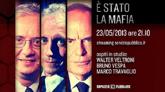 """Servizio pubblico, """"E' Stato la mafia"""": ospiti di giovedì 23 maggio"""