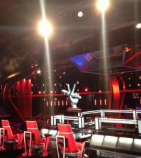foto dello studio di the voice of italy
