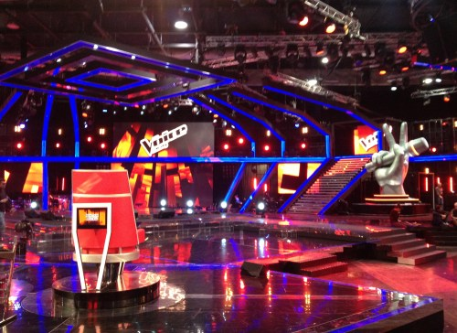 foto dello studio di the voice