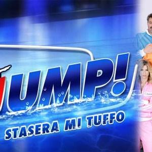 foto del logo e dei concorrenti di jump stasera mi tuffo