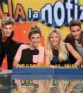 Virginia Raffaele, Michelle Hunziker, Pierpaolo Pretelli ed Elia Fongaro