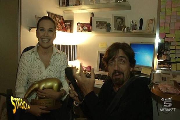 Barbara D'Urso e Valerio Staffelli