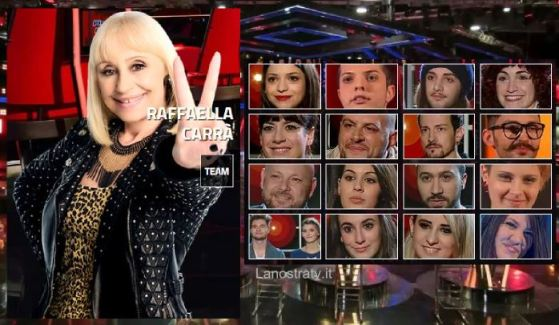 the voice of italy 2 team raffella carrà