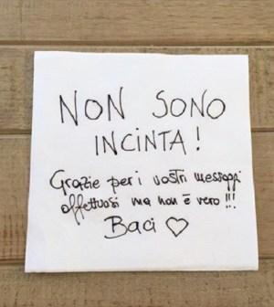 foto messaggio Alessia Marcuzzi