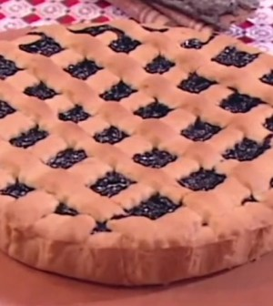 foto crostata di mirtilli