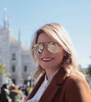 Foto Simona Ventura a Milano