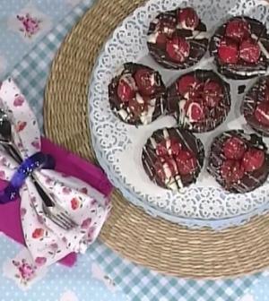 foto tortini cioccolato e lamponi