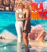 foto Simona Ventura e Alessia Marcuzzi canale 5