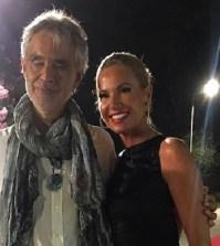 Foto Federica Panicucci con Bocelli