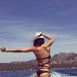 foto Elisabetta Gregoraci al mare