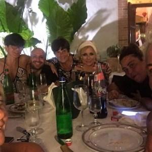 foto Tina Cipollari a cena