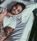 Foto Alessio Bernabei all'ospedale