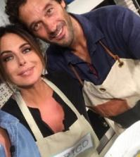 Foto Paola Perego in cucina Frigo