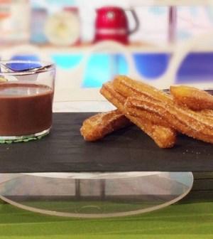 foto churros con cioccolata calda