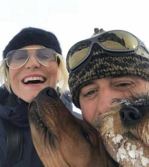 Foto Antonella Clerici e Vittorio Garrone sulla neve