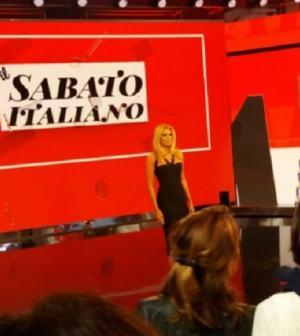 foto Eleonora Daniele studio il Sabato Italiano