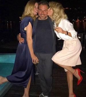 Foto Alessia Marcuzzi con Bossari e Filippa