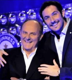 Foto di Gerry Scotti e suo figlio Edoardo in tv