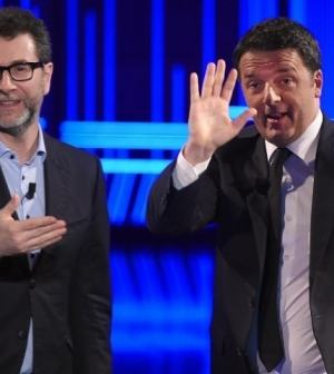 Foto Matteo Renzi ospite da Fabio Fazio