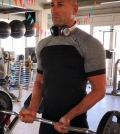 foto Stefano Bettarini in palestra
