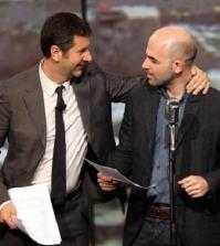 Foto Fabio Fazio e Roberto Saviano Che tempo che fa domenca