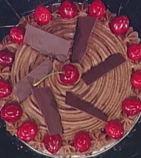 foto torta cioccolato e ciliege
