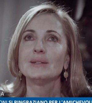 foto barbara Palombelli lacrime non disturbare paola perego