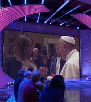 foto Cristina Parodi con il Papa