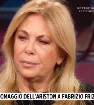 foto rita dalla chiesa Fabrizio Frizzi omaggio sanremo 2019