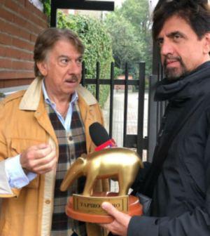 foto Marco Columbro Barbara D'Urso lite striscia la notizia tapiro d'oro