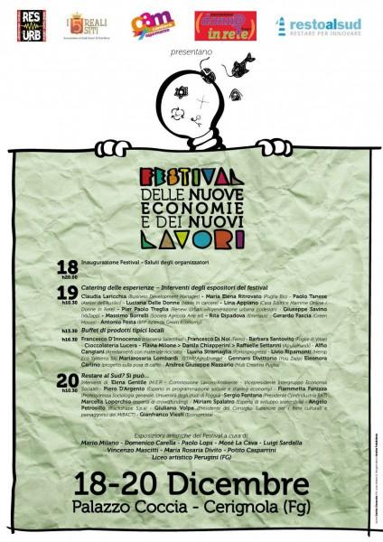 Festival nuove economie locandina