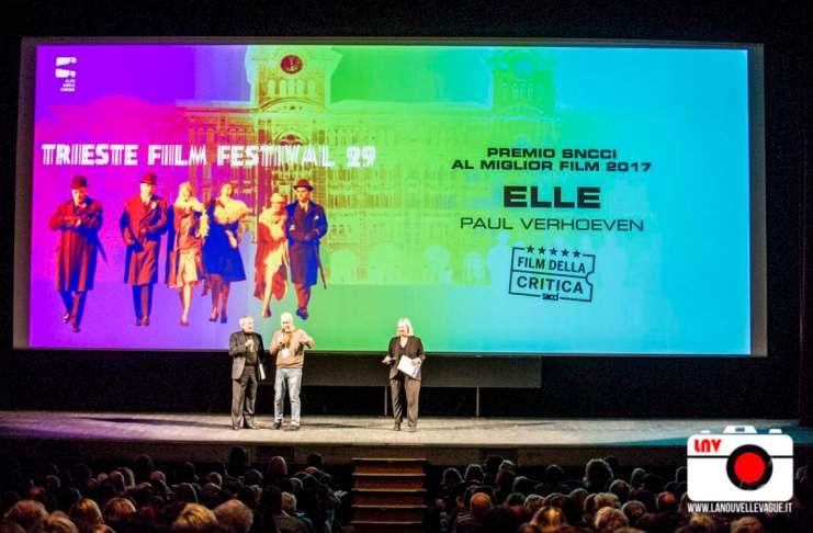 Trieste Film Festival 2018 : l'inaugurazione del 22 gennaio al Politeama Rossetti - Elle di Paul Verhoeven vince il Premio SNCCI