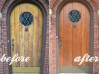 Door Refinish & Refinishing An Old Wood Front Door Before ...