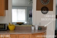 Painted wood molding kitchen backsplash - Lansdowne Life