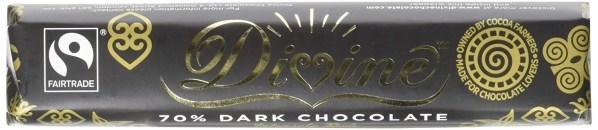 Divine Chocolate – 70% Dark Chocolate Bar 30 X 40g Wholesale