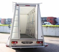 Glass truck with internal and external glass rack ...