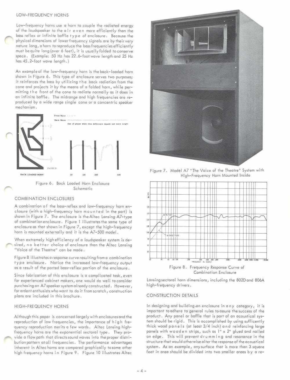 medium resolution of altec 1968 enclosure design guide with plans for a7 valencia and maluibu courtesy paul barello altec lansing technologies