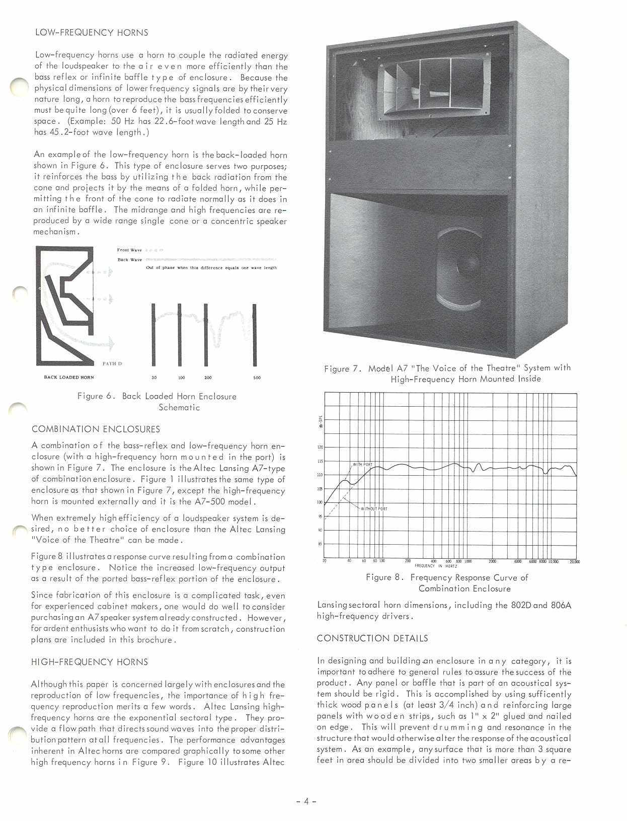 hight resolution of altec 1968 enclosure design guide with plans for a7 valencia and maluibu courtesy paul barello altec lansing technologies