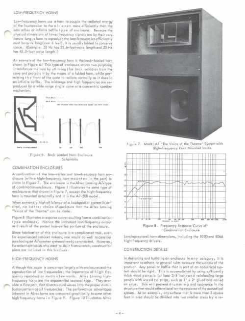 small resolution of altec 1968 enclosure design guide with plans for a7 valencia and maluibu courtesy paul barello altec lansing technologies