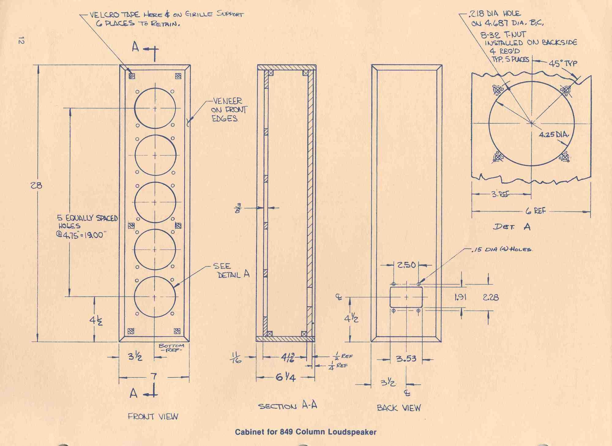 hight resolution of loudspeaker schematic diagram and cabinet design plan home speaker wiring diagram altec lansing cabinet for 849