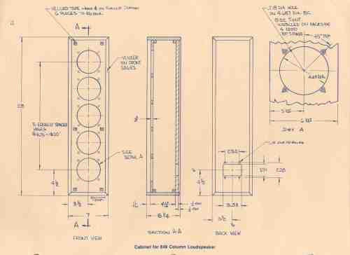 small resolution of loudspeaker schematic diagram and cabinet design plan home speaker wiring diagram altec lansing cabinet for 849