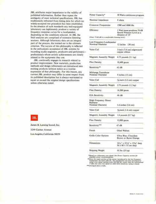 small resolution of jbl l100 manual