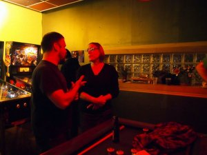 Greg and Kandus chatting.