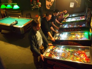 Matt S. shows off the removable lockdown bar from Ghostbusters at March Hare Madness.
